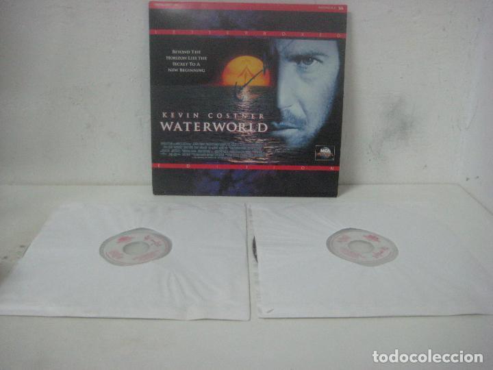 Cine: PELICULA WATERWORLD EN DOBLE LASERDISC FIRMADA A MANO POR EL ACTOR KEVIN COSTNER EN 1995,PIEZA UNICA - Foto 11 - 108552011