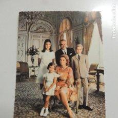Cine: GRACE KELLY GRACE DE MONACO - AUTOGRAFO FIRMA ORIGINAL SOBRE POSTAL FAMILIA REAL CAROLINA STEPHANIE . Lote 109861155