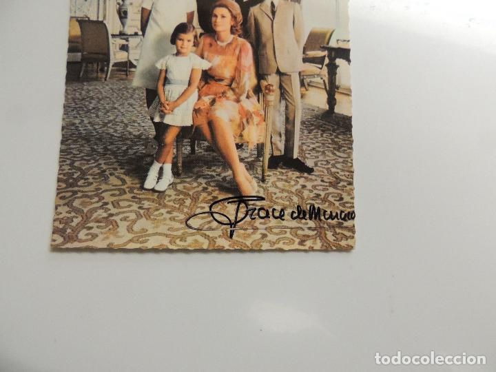 Cine: grace kelly grace de monaco - autografo firma original sobre postal familia real carolina stephanie - Foto 2 - 109861155