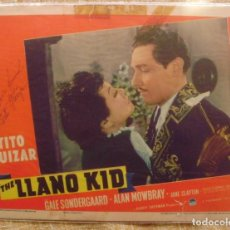 Cine: LLANO KID SIGNED LC'39 BY TITO GUIZAR,IN ROMANTIC CLOSE UP WITH GALE SONDERGAARD. Lote 111923879