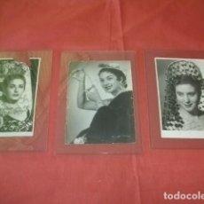 Cine: LOTE TRES FOTOGRAFÍAS CON AUTÓGRAFO DE JUANITA REINA, LOLA FLORES Y ANTOÑITA MORENO. Lote 112344783