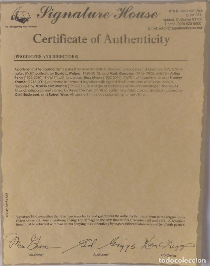 Cine: Stanley Kramer signed card - Foto 2 - 117014971