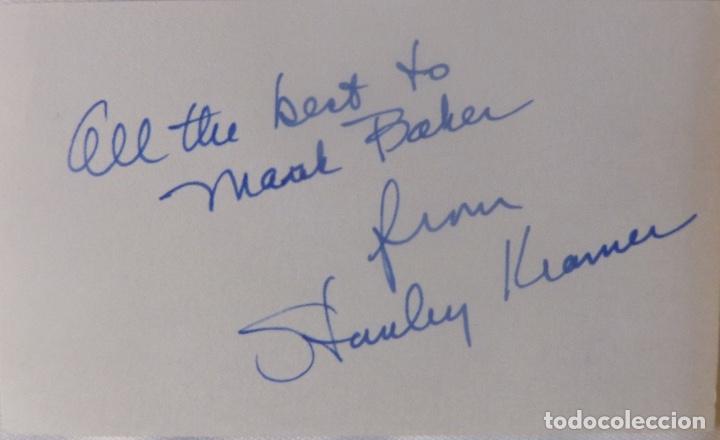 Cine: Stanley Kramer signed card - Foto 3 - 117014971