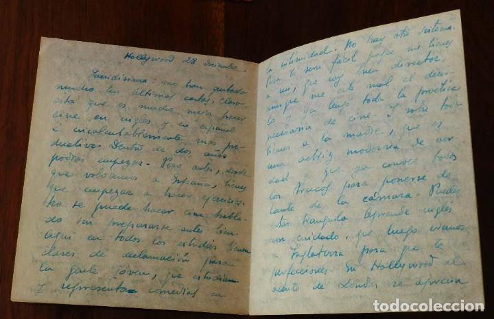 Cine: CARTA MANUSCRITA DE GREGORIO MARTINEZ SIERRA DIRIGIDA A SU HIJA CATALINA MARTINEZ SIERRA (KATIA), HI - Foto 4 - 121583655