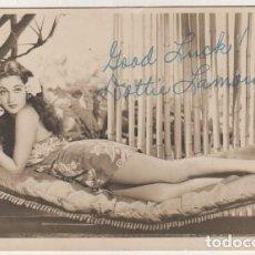Cine: FOTOGRAFÍA ORIGINAL CON FIRMA DE LA ACTRIZ DE CINE DOROTHY LAMOUR. Lote 121738623