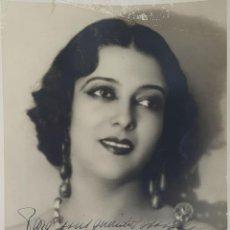 Cine: FOTOGRAFÍA DE LA ARTISTA ESPAÑOLA CARMEN CARBONELL. DEDICADA. 1922. . Lote 124592959