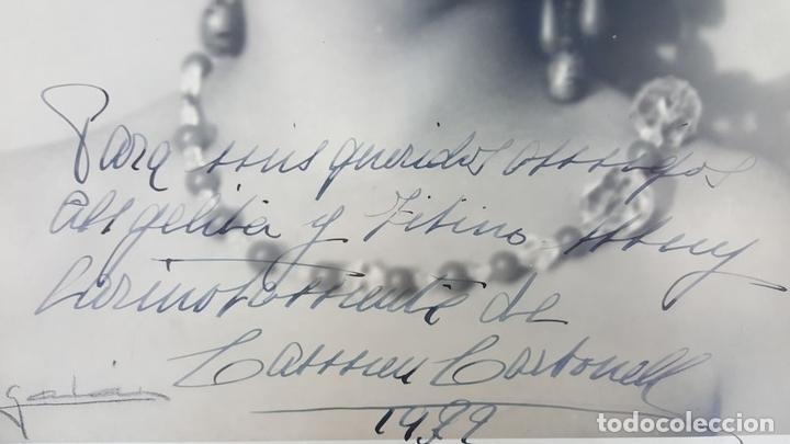 Cine: FOTOGRAFÍA DE LA ARTISTA ESPAÑOLA CARMEN CARBONELL. DEDICADA. 1922. - Foto 2 - 124592959