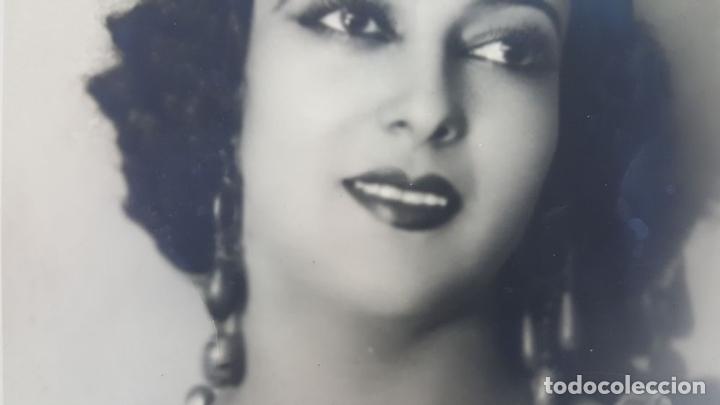 Cine: FOTOGRAFÍA DE LA ARTISTA ESPAÑOLA CARMEN CARBONELL. DEDICADA. 1922. - Foto 3 - 124592959