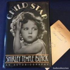 Cine: MAGNIFICO LIBRO FIRMADO A MANO POR SHIRLEY TEMPLE, TITULADO : SHIRLEY TEMPLE BLACK EN 1988. Lote 126018111