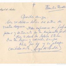 Cine: CARTA MANUSCRITA POR EL ACTOR ÁNGEL DE ANDRÉS, CON 10 LÍNEAS. 1973. Lote 126443887