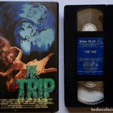 Cine: THE TRIP CINTA VHS ORIGINAL AUTOGRAFIADA POR ROGER CORMAN - ORIGINAL SIGNED VIDEOTAPE. Lote 126883479