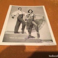 Cine: HENRIQUE ET CORINNE - ARTISTA , FOTOGRAFÍA CON AUTÓGRAFOS A TINTA ORIGINALES 13X10 CM. . Lote 130262454
