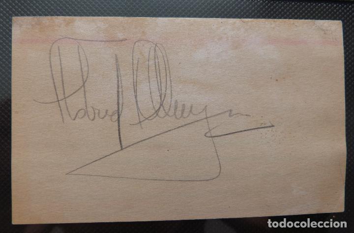 Cine: Autografo de Astrid Allwyn Firmado a lápiz en una hoja - Foto 2 - 130480682