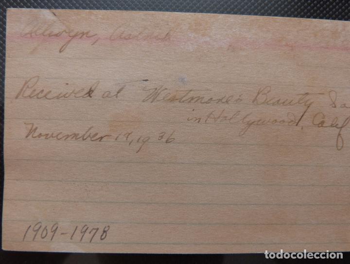 Cine: Autografo de Astrid Allwyn Firmado a lápiz en una hoja - Foto 5 - 130480682