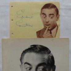 Cine: AUTOGRAFO EN PAGINA DE ALBUM MAS FOTOGRAFIA DE EDDIE CANTOR/1941. Lote 130780908