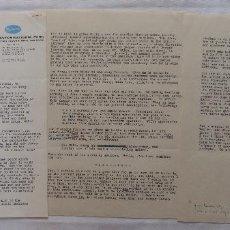 Cine: AUTOGRAFO DE NORMAN CORWIN 3 PÁGINAS, 18 DE JULIO DE 1963, GRAND CAYON NATIONAL PARK. Lote 130941648