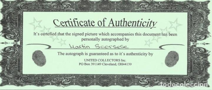Cine: AUTÓGRAFO ORIGINAL DE MARTIN SCORSESE. FIRMA. HAND SIGNED. AUTOGRAPH. CERTIFICADO AUTENTICIDAD. - Foto 2 - 131687250