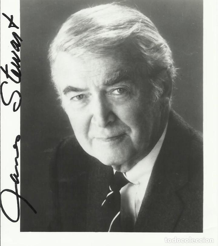 AUTÓGRAFO ORIGINAL DE JAMES STEWART. FIRMA. HAND SIGNED. AUTOGRAPH. 13X10 CM. HOLLYWOOD. (Cine - Autógrafos)
