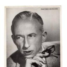 Cine: BARCELONA 1943 FOTOGRAFÍA Y AUTÓGRAFO DEL ACTOR ITALIANO GIACOMO MOSCHINI 12 X 18 CM. Lote 131893114