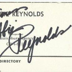 Cine: AUTÓGRAFO ORIGINAL DE DEBBIE REYNOLDS. FIRMA. HAND SIGNED. AUTOGRAPH. ACADEMY PLAYERS DIRECTORY.. Lote 132360934