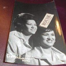 Cine: CANARIAS GIRLS - ARTISTAS 1961 - FOTOGRAFIA CON DEDICATORIA AUTOGRAFA 15X9,5 CM. . Lote 132549934