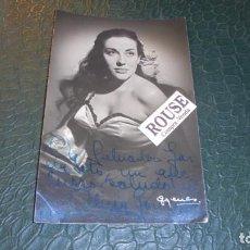 Cine: ALICIA GONZALEZ ACTRIZ 1956 - FOTOGRAFIA CON DEDICATORIA ORIGINAL A TINTA 14X9 CM. . Lote 133322654