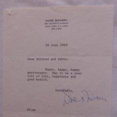Cine: AUTOGRAFO EN CARTA FIRMADA POR DORE SCHARY, 24 DE JUNIO DE 1969, AL SR. Y LA SRA. EDWIN KNOPF. Lote 135349034