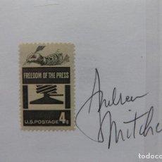 Cine: AUTOGRAFO EN TARJETA FIRMADA CON SELLO DE ANDREA MITCHELL (FREDOM DE LA PRENSA).. Lote 136117066
