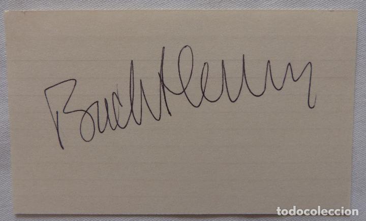 Cine: Autografo en Tarjeta firmada por Buddy Hackett, autografiada, 5 x 3 pulgadas - Foto 2 - 136148714
