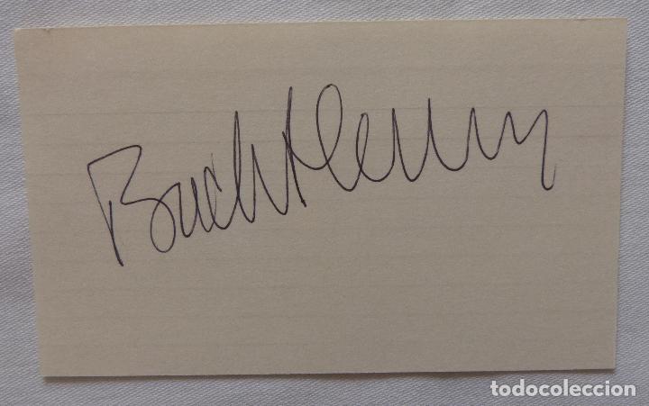 Cine: Autografo en Tarjeta firmada por Buddy Hackett, autografiada, 5 x 3 pulgadas - Foto 3 - 136148714