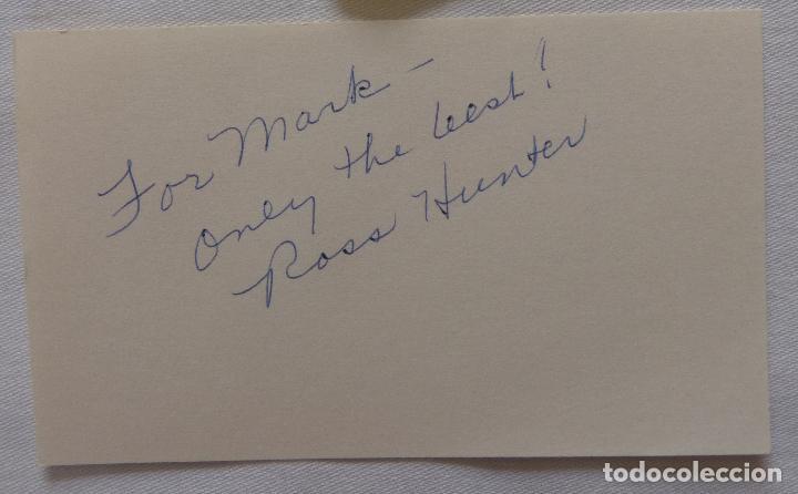 Cine: Autografo en Tarjeta firmada de Ross Hunter ( Actor ) - Foto 2 - 137210766