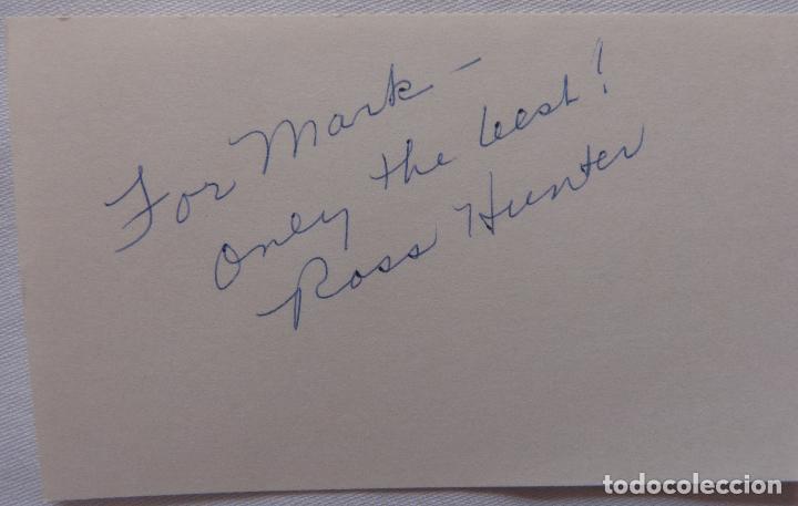 Cine: Autografo en Tarjeta firmada de Ross Hunter ( Actor ) - Foto 4 - 137210766