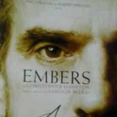 Cine: JEREMY IRONS AUTOGRAFO FIRMADO EN PROGRAMA ORIGINAL TEATRO WEST END EMBERS . Lote 137273090