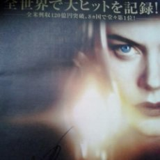 Cine: NICOLE KIDMAN AUTOGRAFO EN PROGRAMA ORIGINAL JAPONES THE OTHERS 25X 28. Lote 137277114