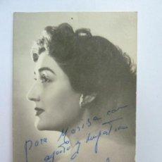 Cine: FOTOGRAFÍA DEDICADA Y FIRMADA POR LA ACTRIZ MARI ÁNGELES. AÑO 1962 (14 X 9 CM). Lote 137978458