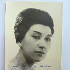 Cine: FOTOGRAFÍA DEDICADA Y FIRMADA POR LA ACTRIZ AMPARO A. AÑO 1962 (14 X 9 CM). Lote 137982986