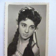 Cine: FOTOGRAFÍA DEDICADA Y FIRMADA POR UNA ACTRIZ. AÑOS 1960 (14 X 8,5 CM). Lote 138115942