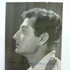 Cine: FOTOGRAFÍA DEDICADA Y FIRMADA POR EL ACTOR ERNESTO AURA. AÑO 1961 (14 X 9 CM). Lote 138116470
