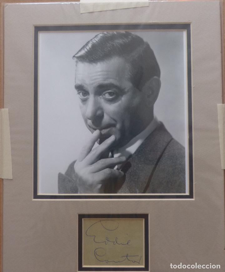 AUTOGRAFO DE EDDIE CANTOR FIRMA EL RETRATO DE LA CABEZA Y LOS HOMBROS DE AÑOS '40S DEL GRAN ACTOR (Cine - Autógrafos)