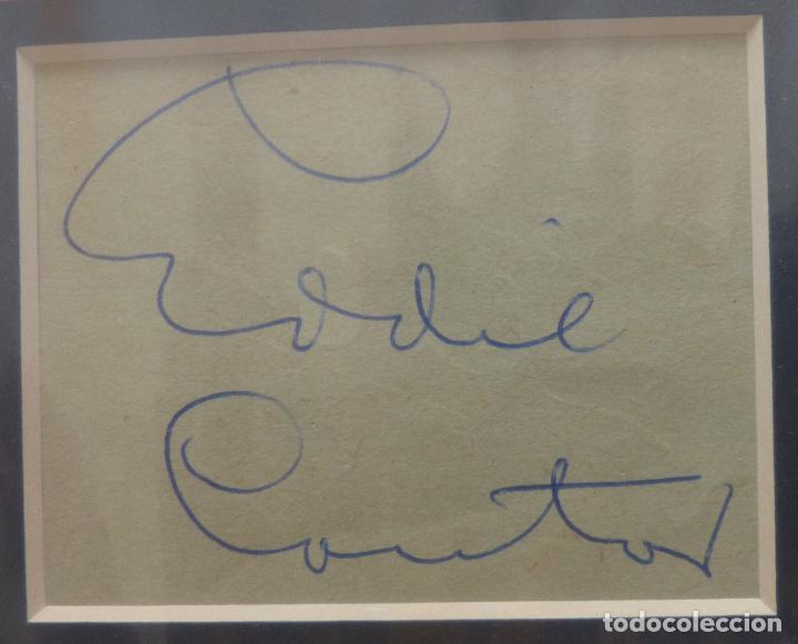 Cine: AUTOGRAFO DE EDDIE CANTOR firma el retrato de la cabeza y los hombros de años 40s del gran actor - Foto 4 - 138581846
