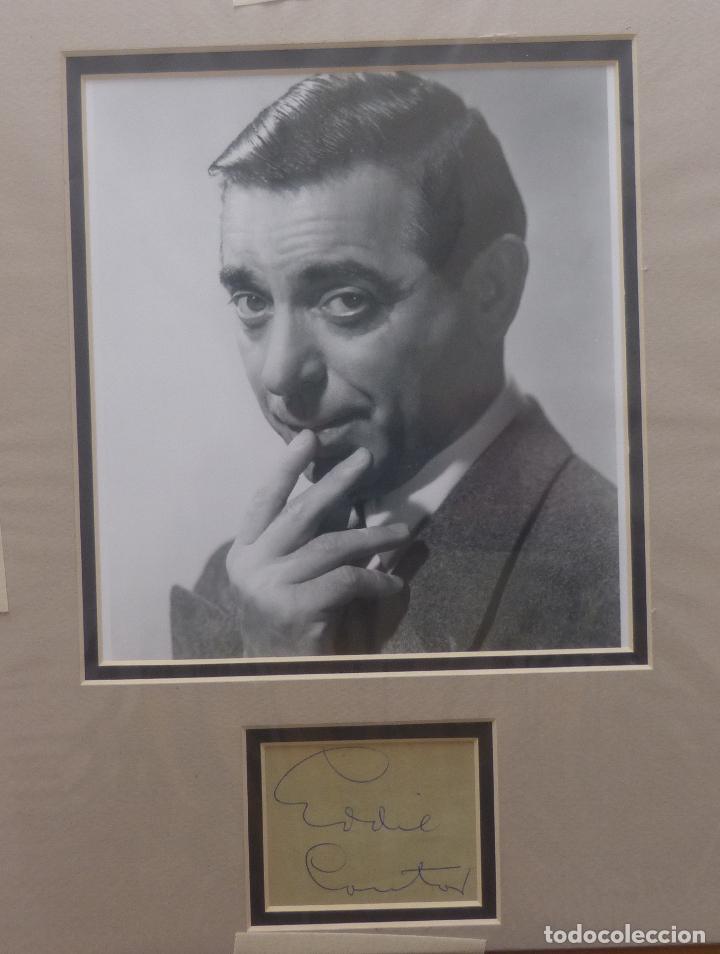 Cine: AUTOGRAFO DE EDDIE CANTOR firma el retrato de la cabeza y los hombros de años 40s del gran actor - Foto 5 - 138581846
