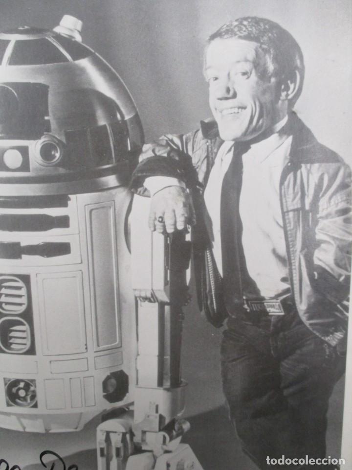 Cine: FOTOGRAFIA R2 D2 - KENNY BAKER CON AUTOGRAFO - STAR WARS - GUERRA DE LAS GALAXIAS- CERTIFICACION - Foto 3 - 141101006