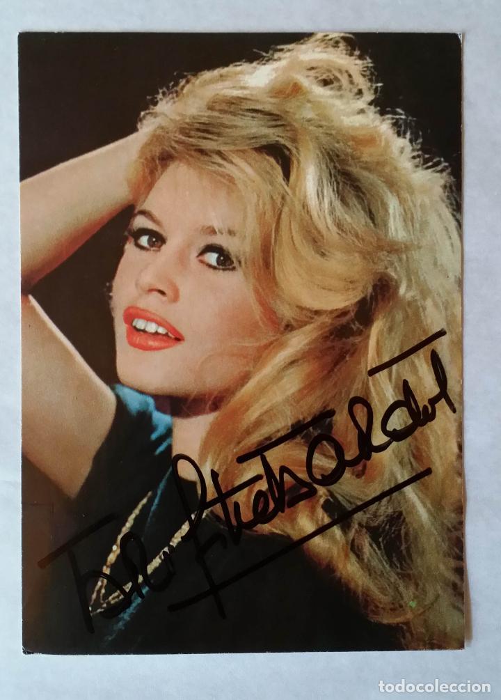 Cine: Brigitte BARDOT, autografo en postal vintage - Foto 4 - 142266282
