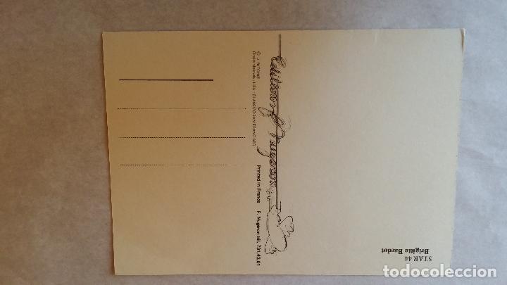 Cine: Brigitte BARDOT, autografo en postal vintage - Foto 5 - 142266282