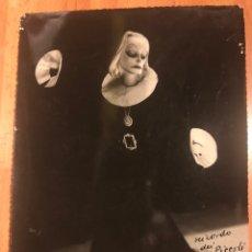 Cinéma: FOTO ORIGINAL CON AUTÓGRAFO DE VITTORIO PODRECCA.TEATRO MARIONETA TÍTERES I PICCOLI.GRETA GARBO 1935. Lote 145292044