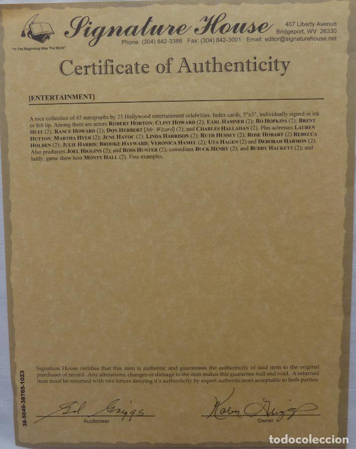 Cine: Autografo en Tarjeta firmada de Buck Henry 13 X 8 Cms Aprox.(Actor) - Foto 5 - 145397802