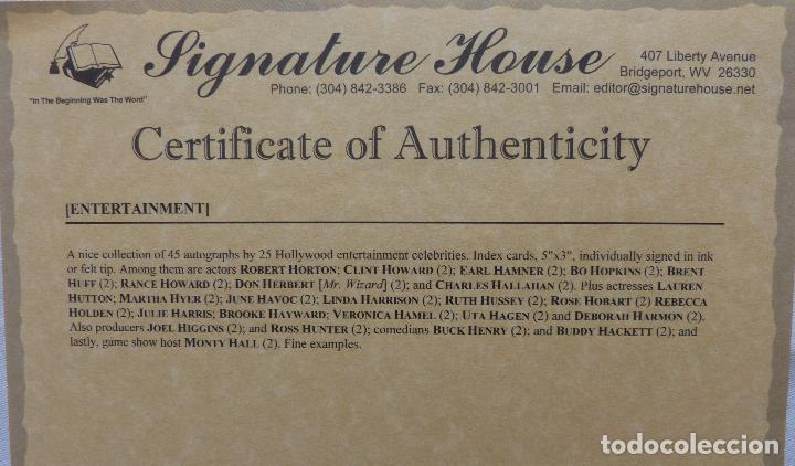 Cine: Autografo en Tarjeta firmada de Buck Henry 13 X 8 Cms Aprox.(Actor) - Foto 6 - 145397802