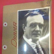 Cine: ENRIC BORRAS. ACTOR TEATRO. FOTO FIRMADA Y DEDICADA. AÑOS 1930S. Lote 145964382