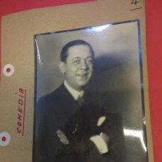 Cine: VALERIANO LEON. ACTOR. FOTO FIRMADA Y DEDICADA. AÑOS 1930S. Lote 145968614
