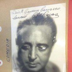 Cine: ENRIQUE DE ROSAS. ACTOR. FOTO FIRMADA Y DEDICADA. AÑOS 1930S. Lote 145968926